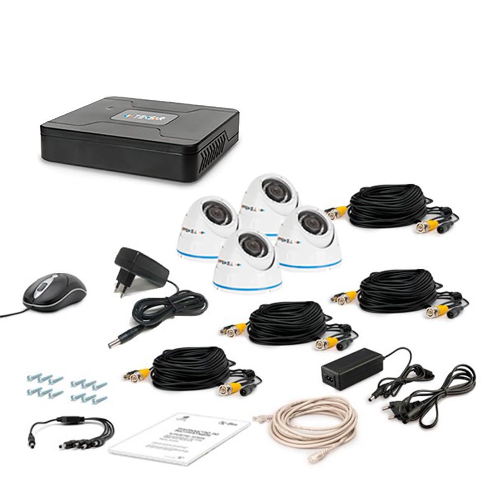 Комплект проводового відеоспостереження Tecsar 4OUT-DOME LUX