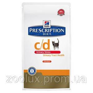 Hill's c/d Feline Urinary Stress 4 кг. для профилактики МКБ и идиопатического цистита котов