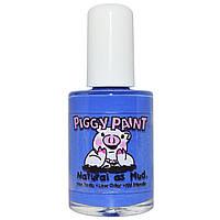 Piggy Paint, Нетоксичный лак для ногтей, натуральный как грязь, цвет голубики, 0,5 жидких унций (15 мл)