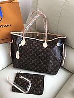 Популярнаяженская сумка Louis Vuitton Neverfull  40 см (реплика), фото 1