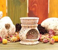 Аромалампа каменная круглая 8*6,5*6,5см.