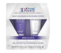 Набор для отбеливания Crest 3D White Brilliance Daily Cleansing Toothpaste and Whitening двухшаговая очистка