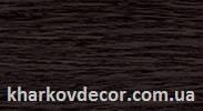 Венге черный - плинтус ПВХ с кабель-каналом и мягким краем 85 мм