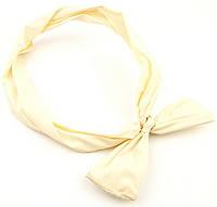 Повязка на голову Солоха с бантиком желтая, фото 1