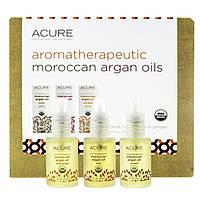 Acure Organics, Aromatherapeutic Moroccan Argan Oils Trio Set, Coconut, Rose, Citrus Ginger, 3,1 fl oz (30 ml) Each