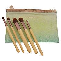 EcoTools, Набор необходимых вещей для ухода за глазами из 6 предметов, 5 кистей, 1 дорожная сумка