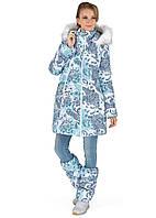 I love mum Куртка для беременных зимняя 2в1 Тори пэйсли на белом