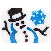 Hugo Naturals, Снеговик в канун зимы мыло ручной работы со снеговиком, 6 унций (170 г)