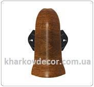Наружный угол - комплектующие для плинтуса ПВХ с кабель-каналом и мягким краем 85 мм