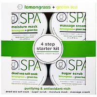 Petal Fresh, BCL Spa, руки, ноги, тело, 4-ступенчатый начальный комплект, лемонграсс + зеленый чай, 4 шт. в комплекте, по 3 жидк. унц. (85 мл) каждый