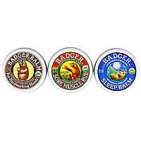 Badger Company, Пробник органических бальзамов из барсучьего жира, набор из 3 шт. по 0,75 унции (21 г)