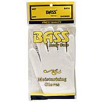 Bass Brushes, Увлажняющие перчатки, белые, 1 пара