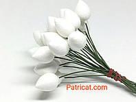 Основа для цветов бутонов на проволоке 16 мм 5 шт/уп