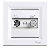 Розетка TV-SAT белая оконечная Asfora