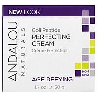 Andalou Naturals, Выравнивающий крем, с супер годжи и пептидами, антивозрастной, 1,7 жидкой унции (50 мл)