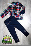 Брюки-джинсы для мальчика темно-синие, фото 2