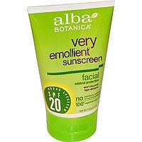 Alba Botanica, Солнцезащитный крем, суперувлажняющий, минеральная защита для лица, SPF 20, 113 г (4 унции)