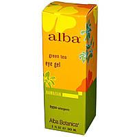 Alba Botanica, Гель для кожи вокруг глаз с зеленым чаем, 1 жидкая унция (30 мл)