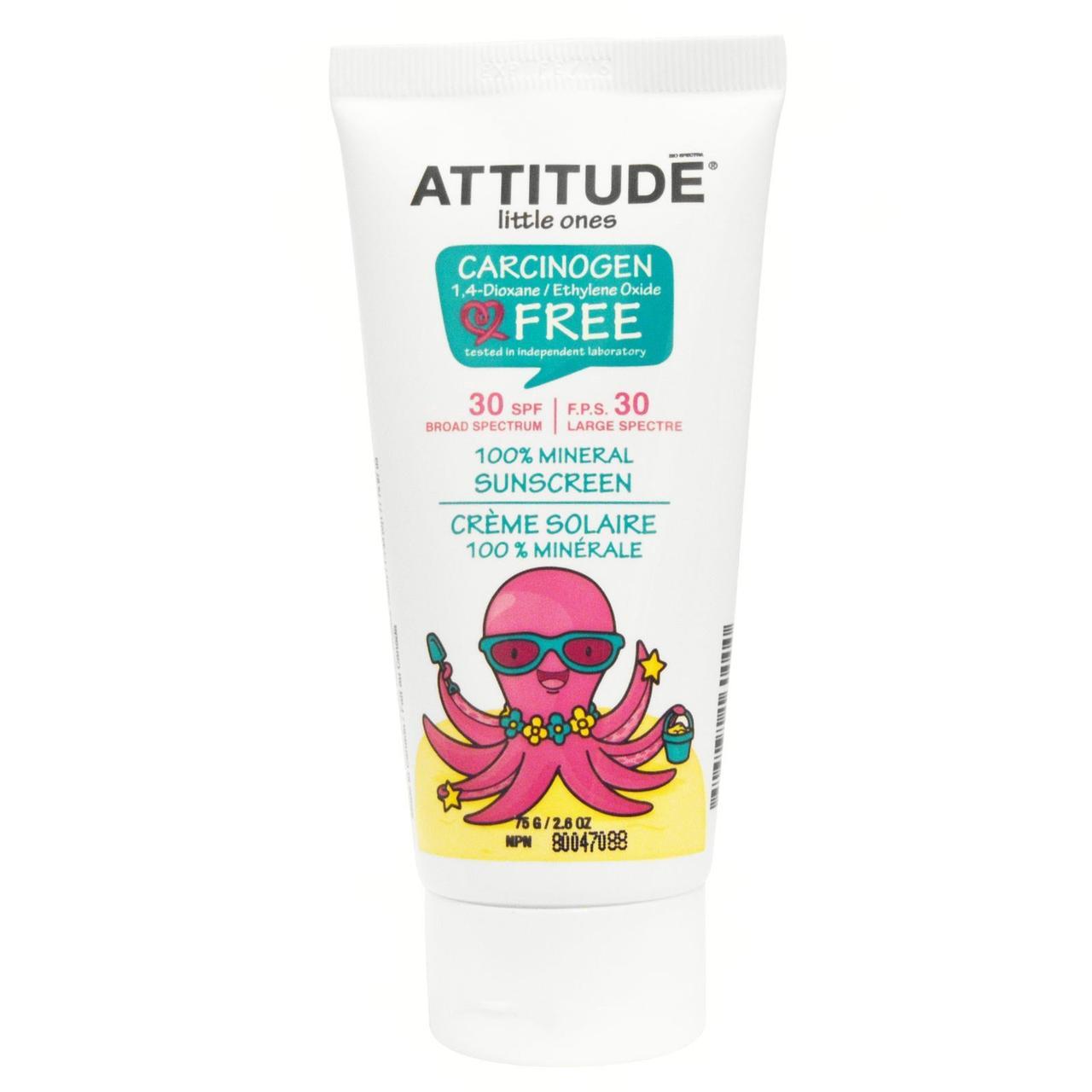 ATTITUDE, Little Ones, 100% минеральная защита от солнца, SPF 30, 2,6 унций (75 г)