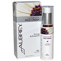 Aubrey Organics, Подтягивающий крем для лица Lumessence, для всех типов кожи, 1 жидкая унция (30 мл)