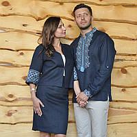 Вышиванка мужская и женский вышитый жакет и юбка, фото 1