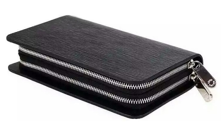 92ae146a089f Мужской кожаный клатч Louis Vuitton Lvk003wave, чёрный Копия ...