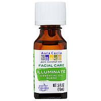 Aura Cacia, Средство для ухода за лицом, смесь эфирных масел, осветление, 0,5 жидких унций (15 мл)