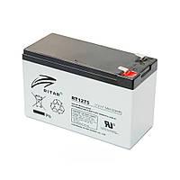 Акумуляторна батарея RITAR AGM RT1275 12V 7.5 Ah