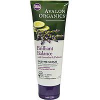 Avalon Organics, Brilliant Balance с лавандой и пребиотиками, энзимный скраб, 4 унции (113 г)