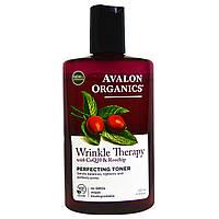 Avalon Organics, Средство против морщин с коэнзимом Q10 и шиповником, выравнивающий тоник, 8 жидких унций (237 мл)