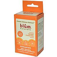 Blum Naturals, Ежедневные, очищающие салфетки с микрошариками, пилинг, апельсиновая корка, 10 салфеток