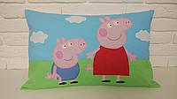 """Декоративна подушка ручної роботи """"Свинка Пеппа і Джордж"""""""