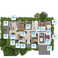 Система AHD 2Мп видеонаблюдения на 16 камер «под ключ» для частного дома