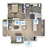 Видеонаблюдение AHD 1Мп 4 камеры для квартиры - Видеонаблюдение для квартиры - Видеонаблюдение под ключ