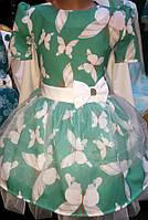 Летнее детское платье с фатином 502201
