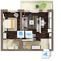 Видеонаблюдение AHD 1Мп 1 камера для квартиры - Видеонаблюдение для квартиры - Видеонаблюдение под ключ