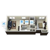 Система IP 2Mp(1080P) видеонаблюдения на 1 камеру «под ключ» для квартиры