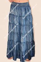 Стильная женская длиная юбка под джинс