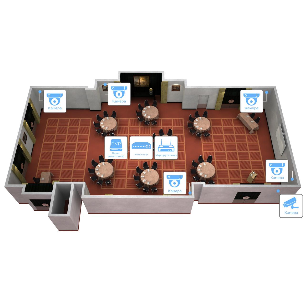 Система IP 1.3Mp(960P) видеонаблюдения на 6 камер «под ключ» для объекта социальной инфраструктуры