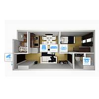 IP видеонаблюдение 4 камеры (4Мп) для квартиры