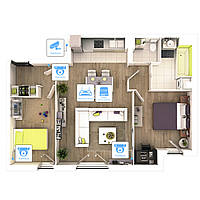 Видеонаблюдение AHD 2Мп 4 камеры для квартиры - Видеонаблюдение для квартиры - Видеонаблюдение под ключ - Виде
