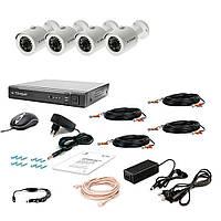 Комплект проводного видеонаблюдения Tecsar 4OUT-2M-AUDIO