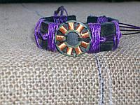 Оригинальный кожаный браслет на руку, ручная работа