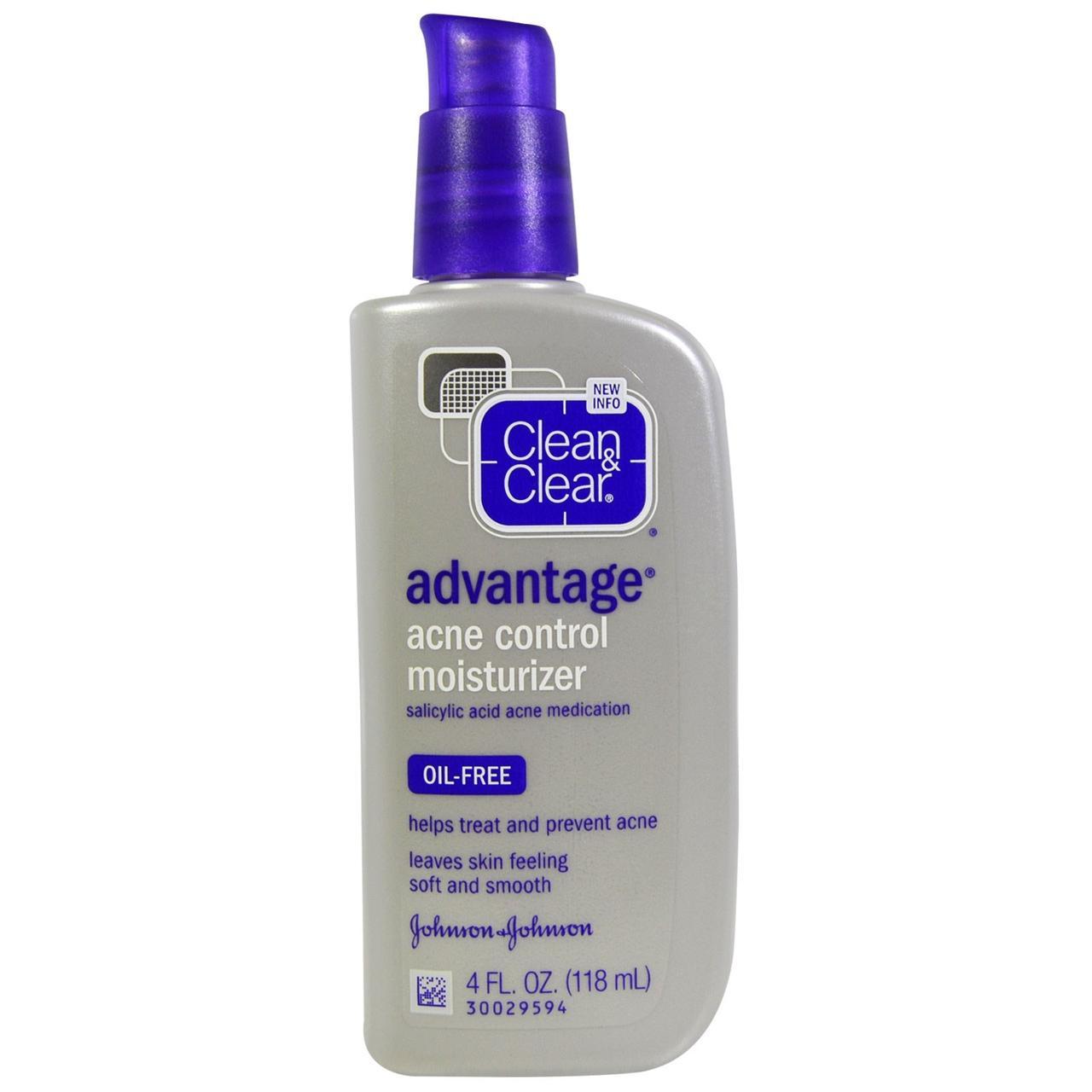 Clean & Clear, Преимущество, увлажняющее средство для угревой сыпи, 4 жидк. унц. (118 мл)