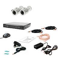 Комплект проводного видеонаблюдения Tecsar 2OUT-2M-AUDIO