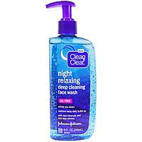 Clean & Clear, Средство для мойки лица с глубокой очисткой и для расслабления ночью, 8 жидк. унц. (240 мл)
