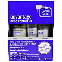 Clean & Clear, Набор для борьбы с угревой сыпью Преимущество, 3 шт. в комплекте