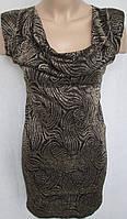 Красивое чёрное платье с золотистым орнаментом. Италия