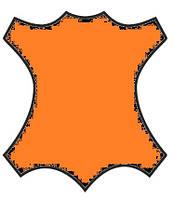 Краска для кожи, замши, нубук 100мл Ярко Оранж.