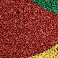 Декоративный щебень цветной красный
